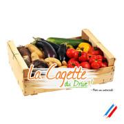 Cagette de légumes bio du drive en vrac