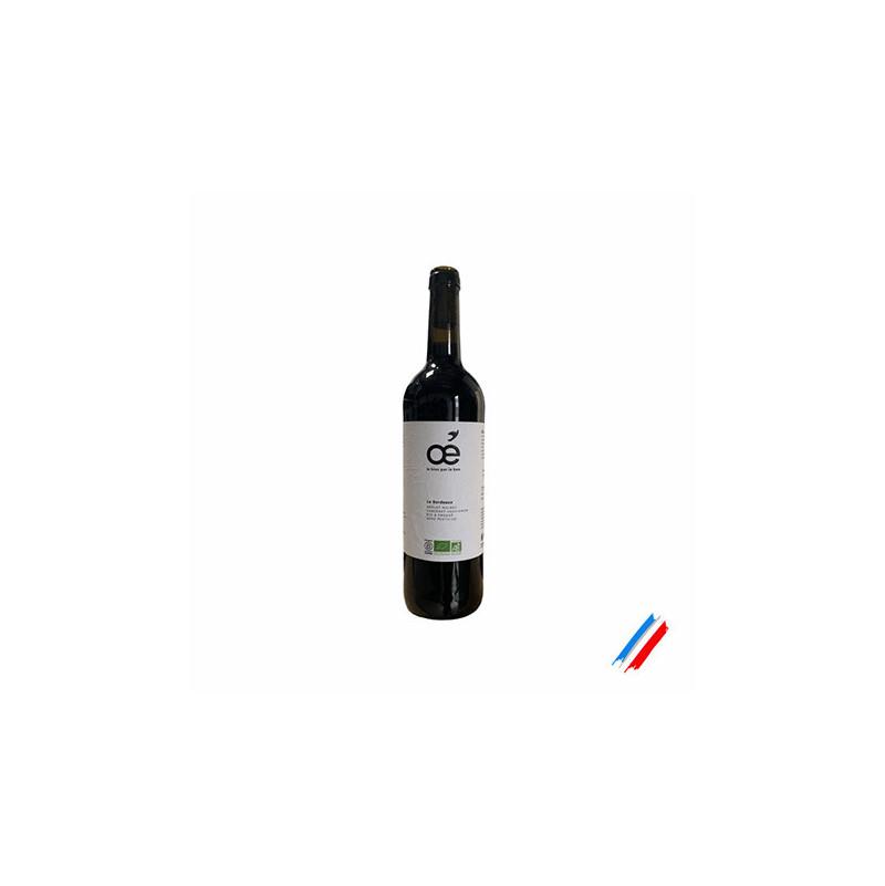Vin rouge Le Bordeau bio 75cl