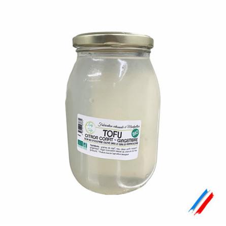 Tofu bio confit citron-gingembre bio environ 250g