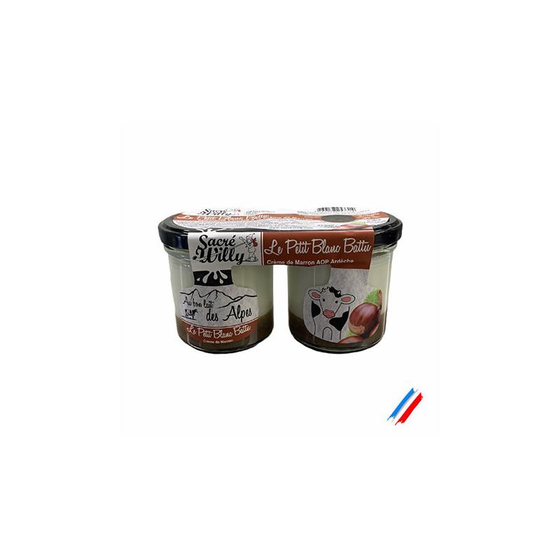 Le petit blanc battu crème de marron 2x125g