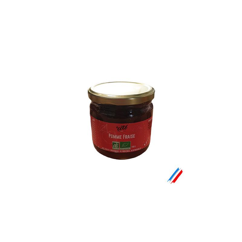 Compote pomme fraise bio 330g
