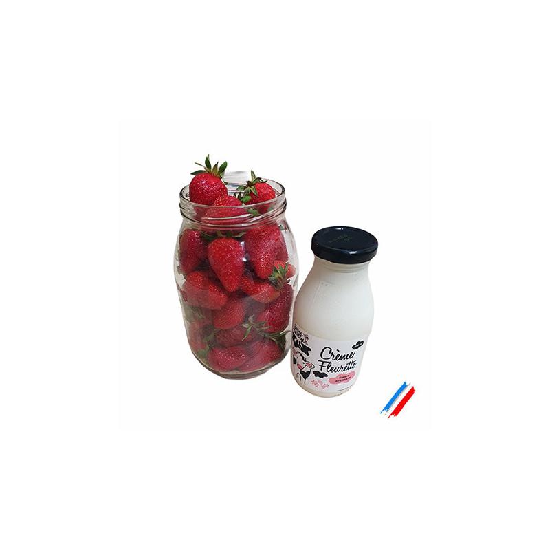 2 duo fraises/crème fleurette